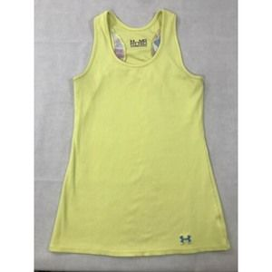 Under Armour Fitted Yellow Racerback Tank Top M